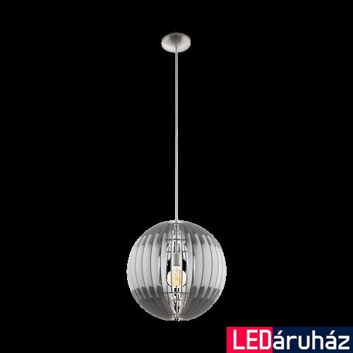 EGLO 96747 OLMERO Fa függesztett lámpa, 40cm, szürke/fehér, E27 foglalattal + ajándék LED fényforrás