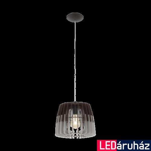 EGLO 96955 ARTANA Fa függesztett lámpa, 30cm, fekete/szürke, E27 foglalattal + ajándék LED fényforrás