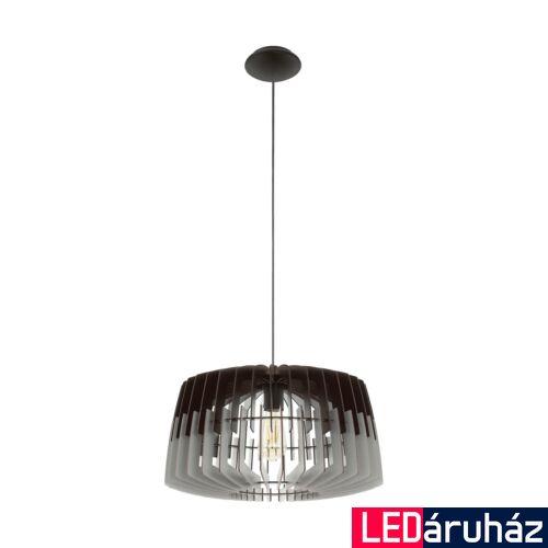 EGLO 96956 ARTANA Fa függesztett lámpa, 48cm, fekete/szürke, E27 foglalattal + ajándék LED fényforrás