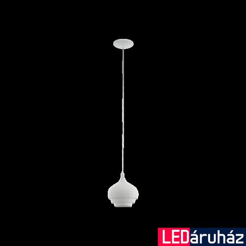 EGLO 97212 CAMBORNE Fehér függeszték, E27 foglalattal, 19cm átmérő, 110cm, 1x60W + ajándék LED fényforrás