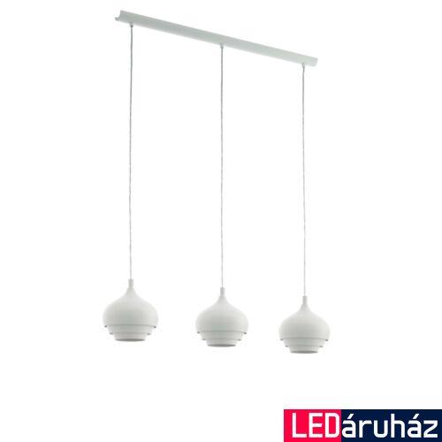 EGLO 97213 CAMBORNE Fehér függeszték, 3 db. E27 foglalattal, 89x19cm, 110cm, 3x60W + ajándék LED fényforrás