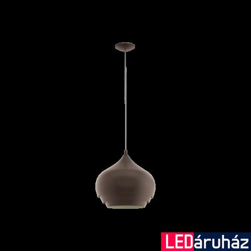 EGLO 97214 CAMBORNE Sötétbarna függeszték, E27 foglalattal, 38cm átmérő, 1x60W + ajándék LED fényforrás