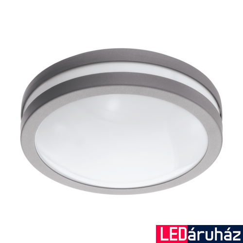 EGLO 97299 LOCANA-C kültéri fali lámpa, ezüst, 14W, 1400 lm, 3000K melegfehér, beépített LED, IP44