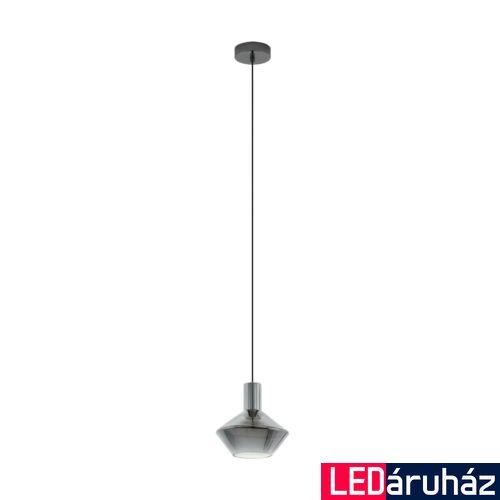EGLO 97423 PONZANO Füstüveg/fekete, függesztett lámpa, E27 foglalattal, 20cm átmérő, max. 1x60W + ajándék LED fényforrás
