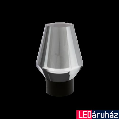 EGLO 97635 VERELLI fekete, asztali lámpa, 25cm magas, füstüveg bura, E27 foglalattal, max. 1x60W + ajándék LED fényforrás