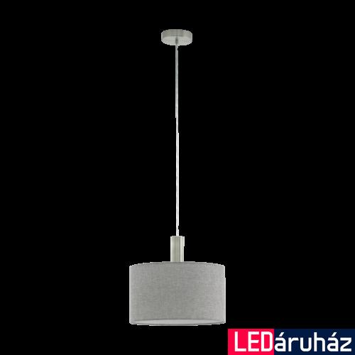 EGLO 97671 CONCESSA 2 Szürke függeszték, E27 foglalattal, 38cm átmérő, 150cm, 1x60W + ajándék LED fényforrás