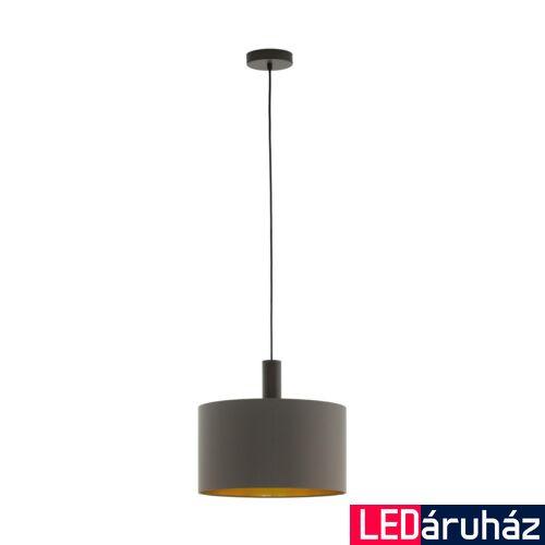 EGLO 97682 CONCESSA 1 Barna függeszték, E27 foglalattal, 38cm átmérő, 150cm, 1x60W + ajándék LED fényforrás