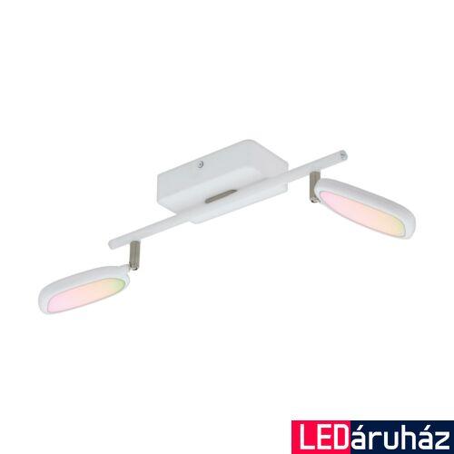 EGLO 97692 PALOMBARE-C Connect smart mennyezeti LED lámpa, RGBW, 36,5cm hosszú, fehér, 2x5W, 2x600lm