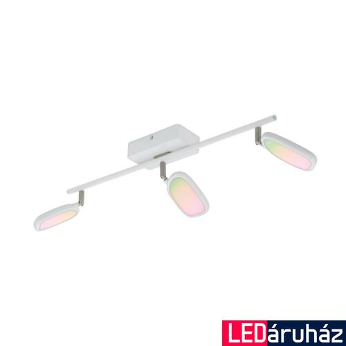 EGLO 97693 PALOMBARE-C spotlámpa, fehér, 3X5W, 1800 lm, 2700K-6500K szabályozható, fényerő szabályozható, beépített LED, IP20 + ajándék LED reflektor