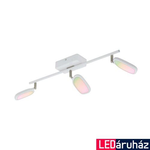 EGLO 97693 PALOMBARE-C spotlámpa, fehér, 3X5W, 1800 lm, 2700K-6500K szabályozható, fényerő szabályozható, beépített LED, IP20