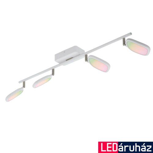 EGLO 97694 PALOMBARE-C spotlámpa, fehér, 4X5W, 2400 lm, 2700K-6500K szabályozható, fényerő szabályozható, beépített LED, IP20 + ajándék LED reflektor