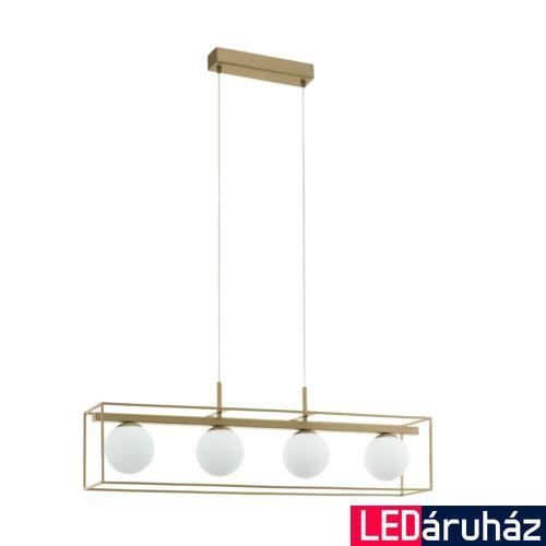 EGLO 97793 VALLASPRA Arany függesztett lámpa, 4 db. E14 foglalattal, 91cm hosszú, max. 4x40W + ajándék LED fényforrás