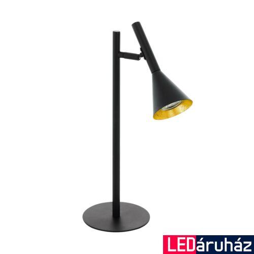 EGLO 97805 CORTADERAS asztali lámpa, kapcsolóval, fekete, GU10 foglalattal, max. 1x5W, IP20
