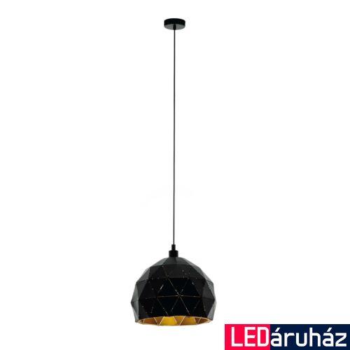 EGLO 97845 ROCCAFORTE 1 ágú függeszték, fekete, E27 foglalattal, IP20 + ajándék LED fényforrás