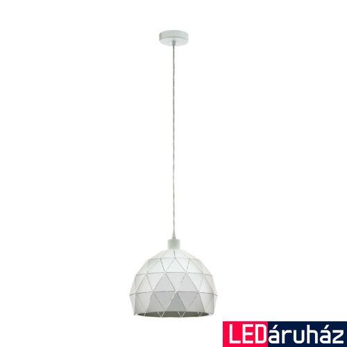 EGLO 97854 ROCCAFORTE Fehér függesztett lámpa, E27 foglalattal, 30cm átmérő, max. 1x60W + ajándék LED fényforrás