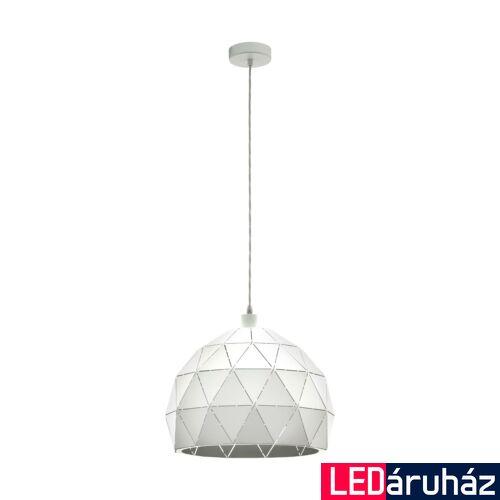 EGLO 97855 ROCCAFORTE 1 ágú függeszték, fehér, E27 foglalattal, IP20 + ajándék LED fényforrás