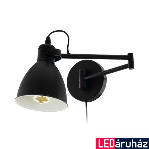 EGLO 97886 SAN PERI fekete, LED falikar, 30x21cm, max. 1x10W + ajándék LED fényforrás