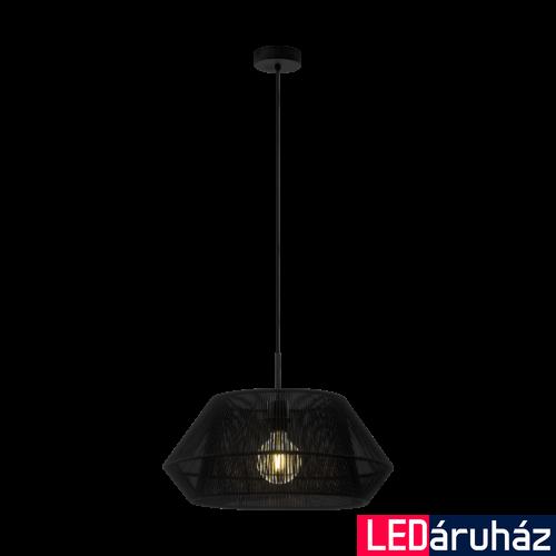 EGLO 97912 PALMONES fekete, függesztett lámpa, E27 foglalattal, 48,5cm átmérő, max. 1x60W + ajándék LED fényforrás