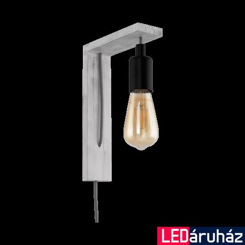 EGLO 97917 TOCOPILLA szürke/fekete, fali LED lámpa, E27 foglalattal, 18x27,5cm, max. 1x10W + ajándék LED fényforrás