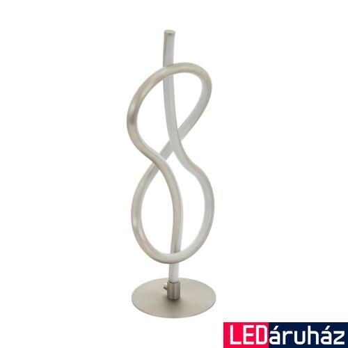 EGLO 97941 NOVAFELTRIA asztali lámpa, kapcsolóval, nikkel, 1000 lm, 3000K melegfehér, beépített LED, 10W, IP20