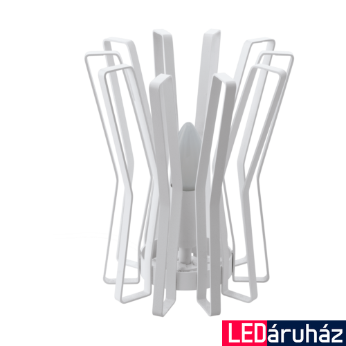 EGLO 97952 LOCUBIN Fehér asztali lámpa, E27 foglalattal, 24cm magas, max. 1x40W + ajándék LED fényforrás