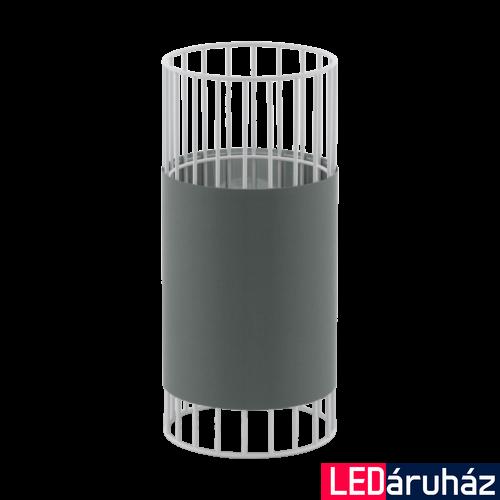 EGLO 97956 NORUMBEGA Textil asztali lámpa, 14cm átmérő, szürke/fehér, E27 foglalattal + ajándék LED fényforrás