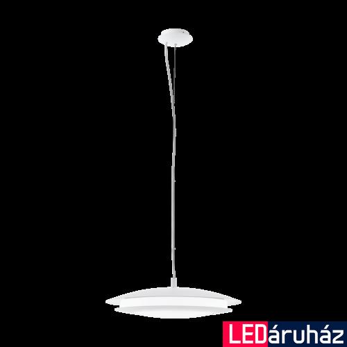 EGLO 98042 MONEVA-C Connect smart függeszték, LED lámpa, RGBW, 48,5cm átmérő, 150cm mélység 3400lm, 27W, fehér, műanyag