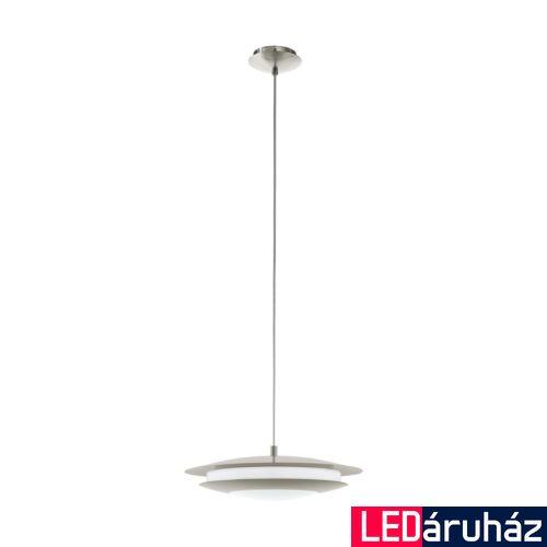 EGLO 98043 MONEVA-C függeszték, nikkel, 18W, 2300 lm, 2700K-6500K szabályozható, fényerő szabályozható, beépített LED, IP20