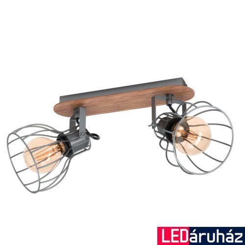 EGLO 98135 SAMBATELLO fali/mennyezeti lámpa, barna, E27 foglalattal, max. 2x40W, IP20