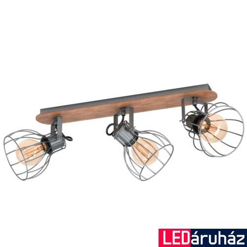EGLO 98136 SAMBATELLO fali/mennyezeti lámpa, barna, E27 foglalattal, max. 3x40W, IP20