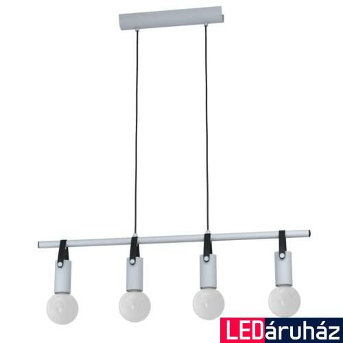 EGLO 98282 APRICALE Függesztett lámpa, szürke, fekete, 4XE27 foglalat 46cm átmérő + ajándék LED fényforrás