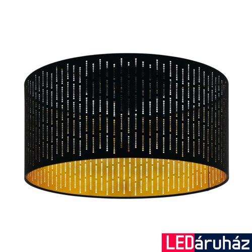 EGLO 98311 VARILLAS Fekete, arany mennyezeti lámpa, E27 foglalattal, 47,5cm átmérő + ajándék LED fényforrás