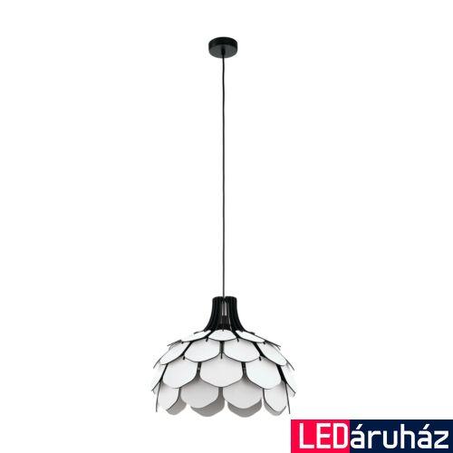 EGLO 98316 MORALES Fa függesztett lámpa, lámpa, 49,5cm átmérő, fehér, fekete, E27 foglalattal + ajándék LED fényforrás