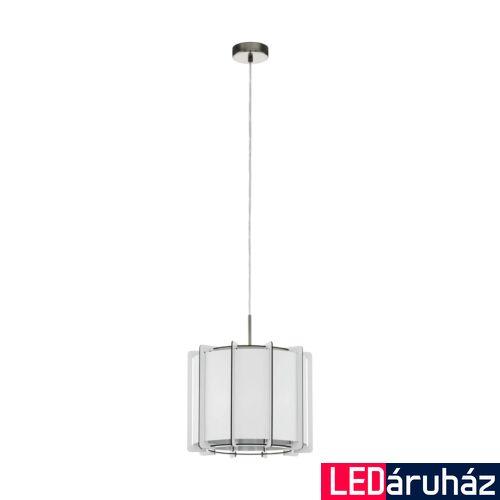 EGLO 98337 PINETA Fa fügesztett lámpa, lámpa, 33cm átmérő, fehér, E27 foglalattal + ajándék LED fényforrás