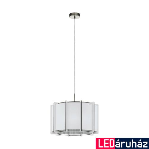 EGLO 98338 PINETA Fa fügesztett lámpa, lámpa, 43cm átmérő, fehér, E27 foglalattal + ajándék LED fényforrás