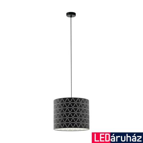 EGLO 98351 RAMON fekete, függesztett lámpa, E27 foglalattal, 37cm átmérő + ajándék LED fényforrás