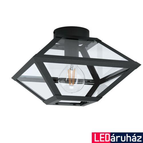 EGLO 98355 CASEFABRE Fekete, üveg mennyezeti lámpa, E27 foglalattal, 31x21,5cm + ajándék LED fényforrás