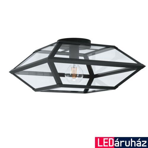 EGLO 98357 CASEFABRE Fekete, üveg mennyezeti lámpa, E27 foglalattal, 45x21,5cm + ajándék LED fényforrás