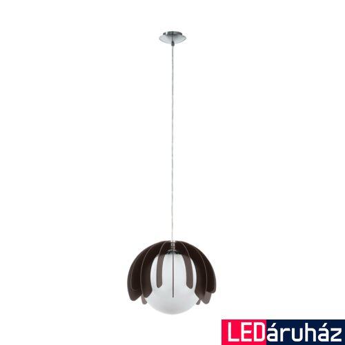 EGLO 98376 RAMBLA Fa, üveg függesztett lámpa, 34cm átmérő, E27 foglalattal + ajándék LED fényforrás