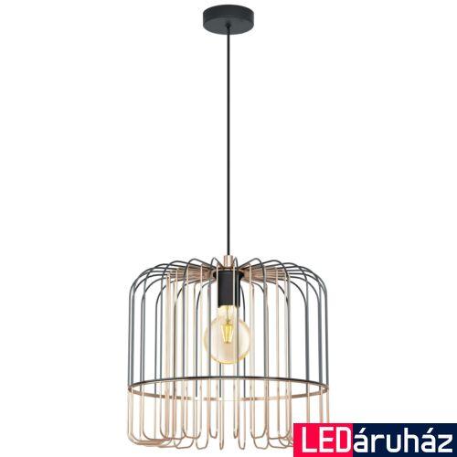 EGLO 98434 ASUNCIÓN Vörösréz függesztett lámpa, E27 foglalattal, 37x110cm + ajándék LED fényforrás