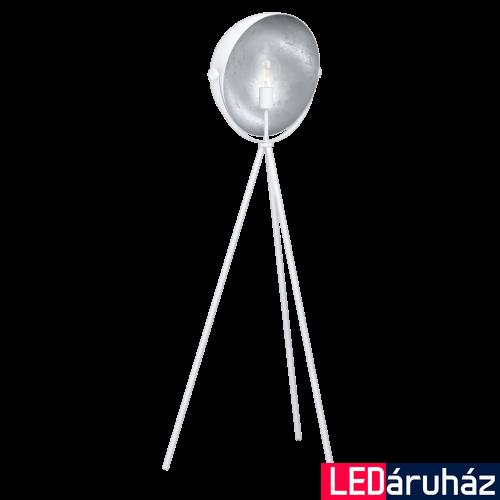 EGLO 98457 DARNIUS Fehér, ezüst állólámpa, E27 foglalattal, 142cm + ajándék LED fényforrás