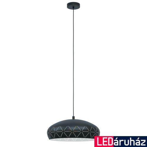 EGLO 98467 RAMON 1 fekete, függesztett lámpa, E27 foglalattal, 40cm átmérő + ajándék LED fényforrás