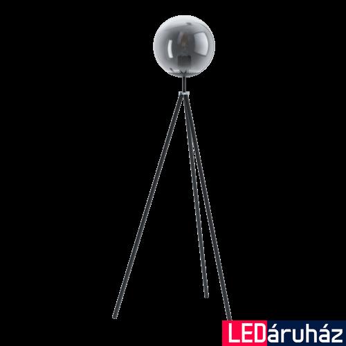 EGLO 98509 ISORELLA Fekete, króm állólámpa, E27 foglalattal, 140cm + ajándék LED fényforrás