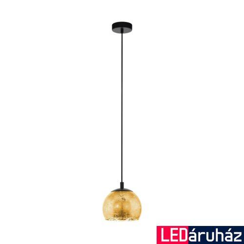 EGLO 98524 ALBARACCIN Függesztett lámpa, E27 foglalattam arany 19cm átmérő + ajándék LED fényforrás