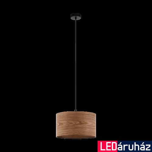 EGLO 98547 CANNAFESCA Fa függesztett lámpa, 38cm átmérő, barna, E27 foglalattal + ajándék LED fényforrás