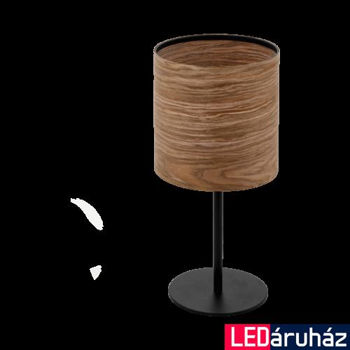 EGLO 98551 CANNAFESCA Fa asztali lámpa, 18x40cm, barna, E27 foglalattal + ajándék LED fényforrás
