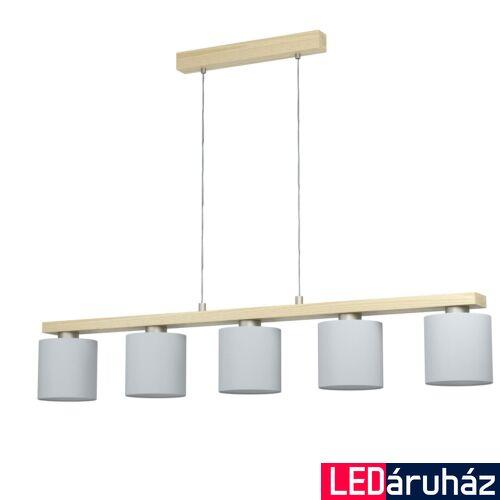 EGLO 98591 CASTRALVO Függesztett lámpa, fa, üveg, 5X E27 foglalattal, 121x110cm