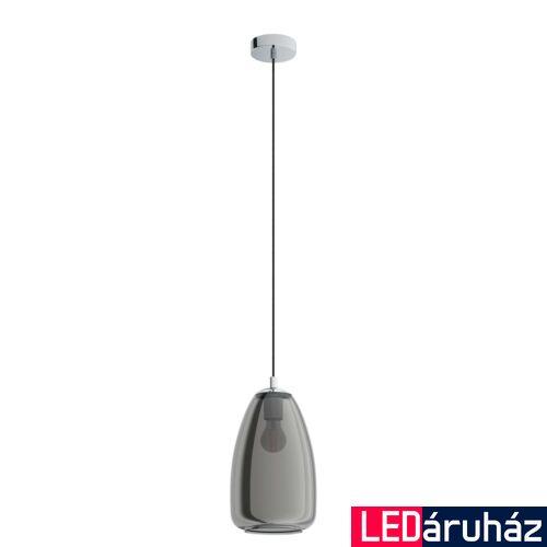 EGLO 98615 ALOBRASE Függesztett lámpa, füstös króm E27 foglalattal, 20cm átmérő + ajándék LED fényforrás