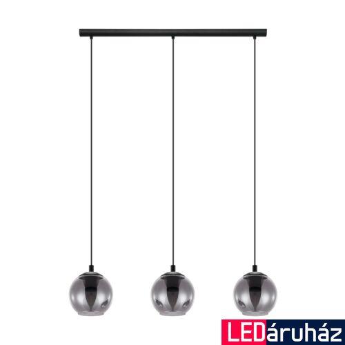 EGLO 98652 ARISCANI Függesztett lámpa, fekete, füstüveg 3XE27 foglalattal, 76,5x100cm + ajándék LED fényforrás