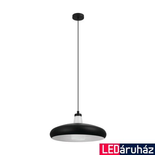 EGLO 99032 TABANERA-C 1 ágú függeszték, fekete, E27 foglalattal, IP20 + ajándék LED fényforrás